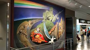 Denver International Airport Murals Removed by Wall Art In The Denver Airport Creepy