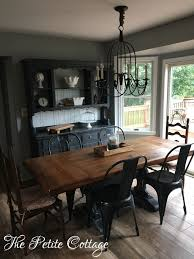 Image Of Trestle Table Painted In Annie Sloan Graphite Chalk Paint