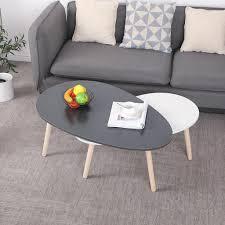 2er couchtisch set beistelltisch kaffetisch couchtisch wohnzimmer tisch 98 60 40cm 88 48 34cm grau weiß