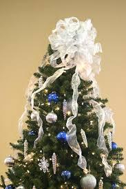 Large White Bow On Christmas Tree