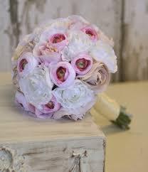 Silk Bride Bouquet Shabby Chic Vintage Inspired Rustic Wedding Morgann Hill Designs By DaisyCombridge