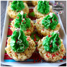 Rice Krispie Christmas Tree Treat Recipe by Christmas Tree Rice Crispy Treats Kiki Cuppycakes
