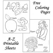 Letter Coloring Sheets Free