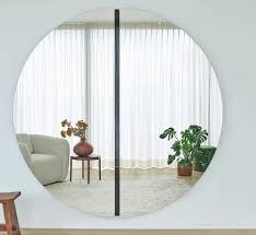 casa padrino luxus spiegel schwarz 200 x 3 5 x h 200 cm runder wandspiegel wohnzimmer hotel restaurant boutique spiegel