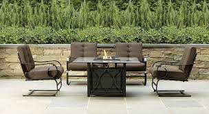 Grand Resort Patio Furniture by Grand Resort Sfs50ct X02 Smoky Hill 5pc Gas Firepit Chat Set