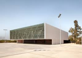 100 Martinez Architects Sports Hall For Escola Gavina School In Spain Has Multihued Clay