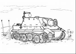 Beautiful Army Military Tank Coloring Page With Pages And To Print