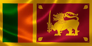 Flag Of Sri Lanka Ceylon Stock Photo