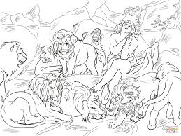 Click The Daniel In Lions Den Coloring Pages