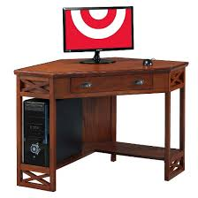 corner desk oak leick furniture target