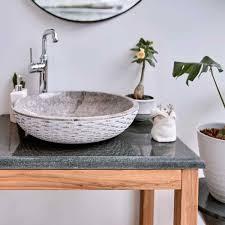flußstein waschtisch platte grau 80x50x3 cm kaufen