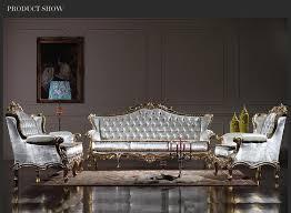 großhandel royalty classic sitzgarnitur klassisches wohnzimmer im barockstil europäische möbel mit blattgoldvergoldung fpfurniturecn 1 580 47