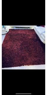 teppich shaggy rot set wohnzimmer schlafzimmer teppich in