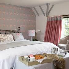 Bedroom With Flamingo Wallpaper