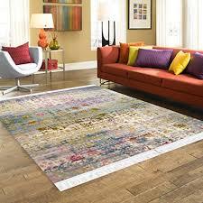 designer teppich retro wohnzimmer esszimmer kurzflor muster