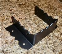 Black Decorative Joist Hangers by Custom Wrought Iron Joist Hangers