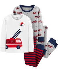 4-Piece Firetruck Snug Fit Cotton PJs | Carter's OshKosh Canada