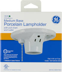 Porcelain Lamp Socket Pull Chain by Ge Porcelain Lampholder Grounded With Pull Chain White 18305