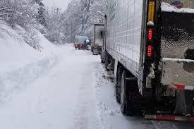 100 Semi Truck Parking Games Snow Ice And More Than 50 Stuck Semis Shuts Down SR 7 TriCity Herald