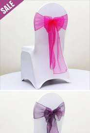 Wedding Chair Sash Buckles by 50 Pcs Lot Organza Sash For Spandex Chair Cover With Round Buckle