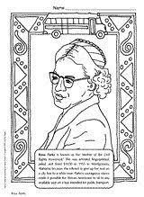 Rosa Parks Coloring Page Printable Pre K