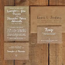 White Calligraphy Kraft Effect Rustic Wedding Invitation Set Invites Invitations Uk Australia