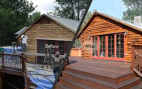 Log Home Staining Sealing