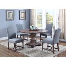 Amazon.com - Best Master Furniture M084 Ellisburg Wooden 5 Piece ... Brynwood White 5 Pc Round Ding Set With Blue Chairs Room Carmilla Damask Chair Espresso Wood Decor Black Contemporary With Wooden Table And Perfect Navy House Seven Design Build Shop Hanover Traditions 5piece In 4 And Farmhouse Fniture Skagen Round Table Oak Gripsholm Chair Entrancing New Roll Squire Parsons Slipcover Rectangle Brown Legs Combined Excerpt Shabby In A Range Of Styles Ireland Dfs Ideas Ikea