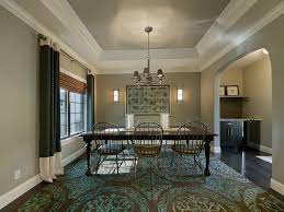 Tray Ceiling Paint Ideas by Ceiling Baseboard Dining Room Traditional With Dark Floor White Wood