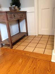 wood look tile next to hardwood