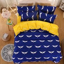 Batman Bed Set Queen by Blue Batman Bedding Sets Polyester Duvet Cover Set Yellow Bed