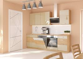 küche artisan cappuccino 250 cm küchenzeile hochglanz küchenblock einbauküche