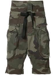 faith connexion camouflage print cargo shorts green men clothing