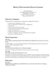Dental Receptionist Resume Objective Examples Sample For Best Executive Assistant Example Office Assistan