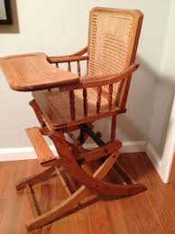 Antique Oak Baby High Chair Converts To Rocker Rocking Chair Cane ... Vintage Wooden Baby High Chair Doll Fniture Antique Victorian Convertible Stroller Combo Koken Oak Cane Barber This Vintage Rattan Peacock Chair From The 1960s Was Handmade By A Wicker Works Blog Wood Toy Child 1970s Handcrafted Etsy Take Seat Historys Most Intriguing Chairs Antiques Curiosities Caning Weaving Handbook Illustrated Directions For Converts To Rocker Rocking