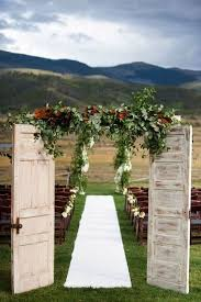 Rustic Fall Wedding Decor With Old Doors