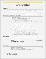 Accounting Resume Examples 2014 Inspirational Template