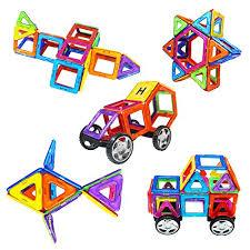 amazon com magnetic blocks sets zooawa magnetic tiles plate kits