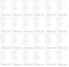 Printable Thank You Blue Design Gift Tags
