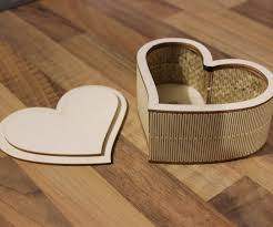 Laser Cut Lamp Plans by Laser Cut Plywood Heart Shaped Box 3 Steps With Pictures