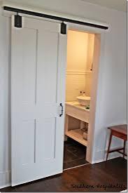 Sliding Barn Door Bathroom Lock Designs Pertaining To Plan 3