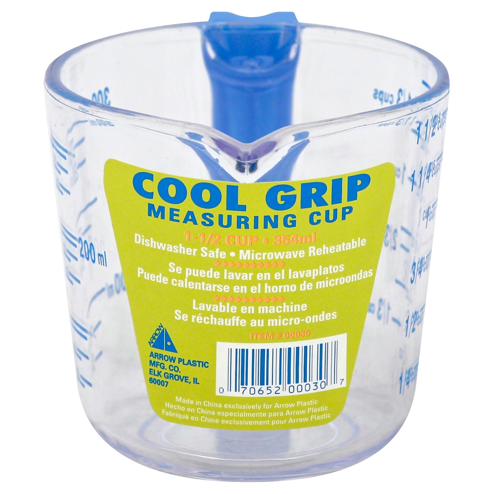 Arrow Plastics Cool Grip Measuring Cup - 1.5 Cups
