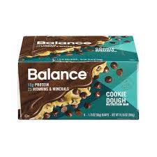 Balance Bar Cookie Dough Nutrition