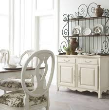 Antiqued Iron Open China Cabinet