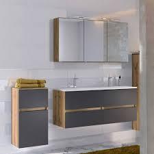 badmöbel set mit 2er waschbecken schrank athrin 3 teilig