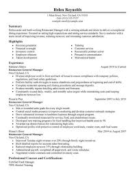 Restaurant Manager Resume Examples Created By Pros