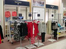 Rolling Retail Display Unit For Womens Clothing