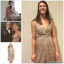 glitter rose gold cheap 2015 sheath knee length bridesmaid dresses