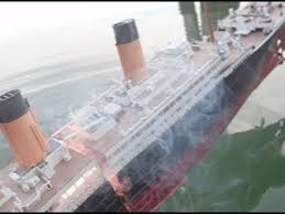 model titanic sinks splits youtube