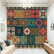 mandala boho böhmischen moderne wohnzimmer vorhang vintage